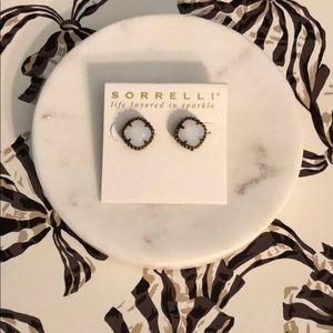 Sorrelli White Opal Stud Earrings